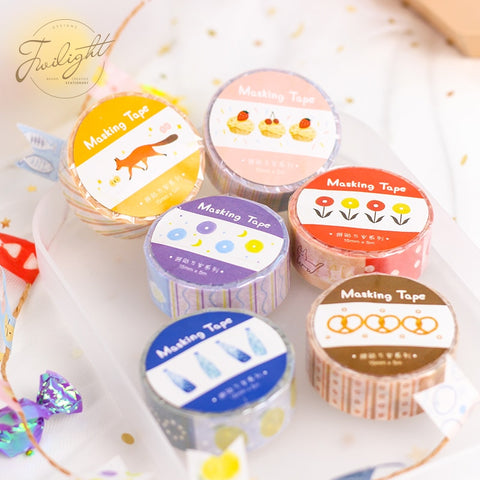 Collage Washi Tape (Set of 6)