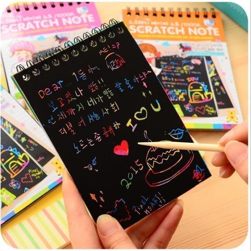 Rainbow Scratch Notebook