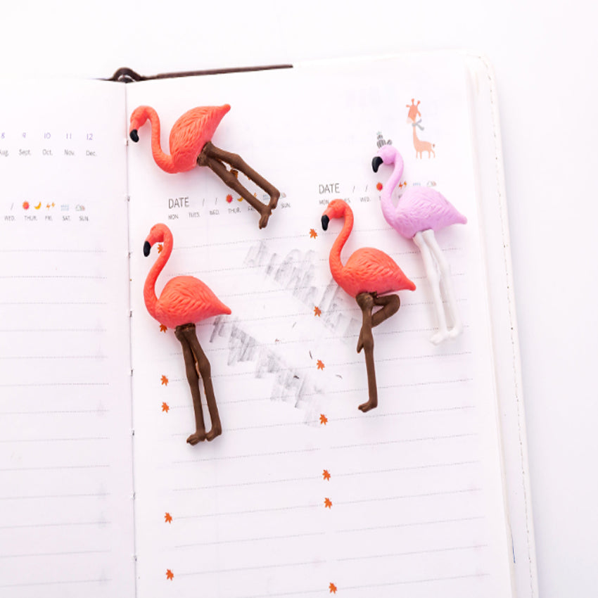 Flamingo Eraser (4 pcs)