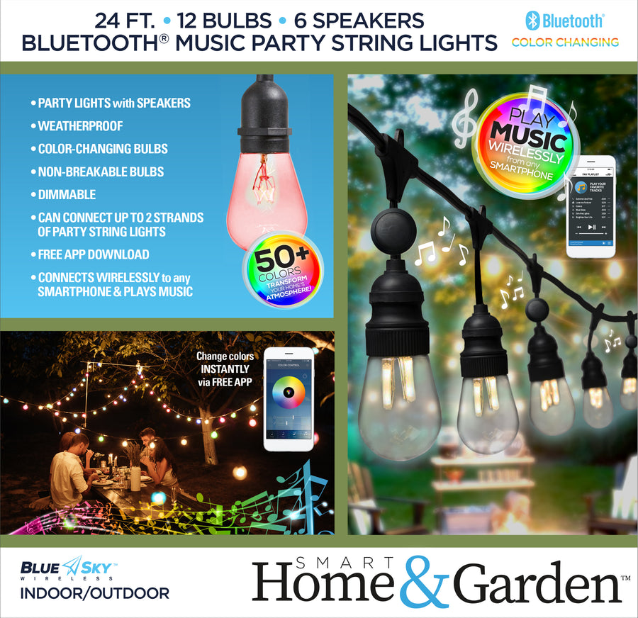 Bluetooth® Music Party String Lights