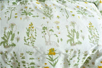 Argstar 26'' X 20'' Floral Decorative Pillowcases Set of 2, Envelope Closure End, Yellow Flower Green Leaves Branches Pattern Cream Pillow Sham