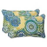 Pillow Perfect Decorative Multicolored Modern Floral Rectangle Toss Pillows, 2-Pack