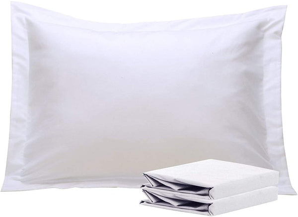 NTBAY 100% Brushed Microfiber Standard Pillow Shams Set of 2, Soft and Cozy, Wrinkle, Fade, Stain Resistant, Standard, White