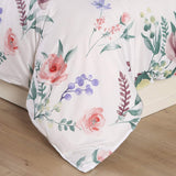 Homaxy 3-Piece (1 Duvet Cover + 2 Pillow Sham) Duvet Cover Set, Ultra Soft Hypoallergenic Microfiber Colorful Flowers Printed Bedding Set with Zipper Closure, Corner Ties, King 104x90 inches