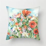 Fuwatacchi Flower Pattern Cushion Cover Vintage Flowers Printed Pillowcase Waist Throw Pillows Cover Home Decor Case Almofadas