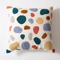 Floral Cushion Cover Cute Dots Embroidery Pillow Cover 45x45cm/30x50cm Soft Cozy  Home Decoration for living room Kids Room