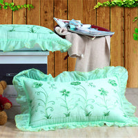 Hand Embroidery Flouncing Pillowcases Bedding Pillow Sham Cover Sleeping Pillowcase Multiple Colors To Choose From #sw