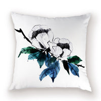 Plant Floral Cushion Cover Garden Flower Case on The Pillow Cases Cushions Chair Custom Car Throw Pillows Covers for Living Room