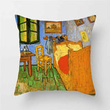TTLIFE 1PC 45X45  European Classical Cushion Cover Pillow Case Home Decor Throw Pillow Covers Art Van Gogh Oil Painting Printed
