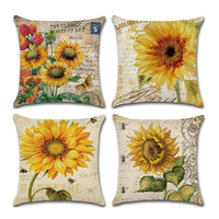 High Quality Sunflower Cushion Cover Double-sided Digital Printing Pillow Case Cushion Cover Office Decor