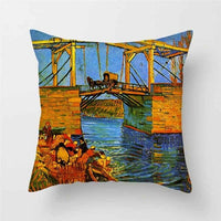 Fuwatacchi Pillow Case 45*45 Home Decor Cushion Cover Throw Pillow Covers European Classical Art Van Gogh Oil Painting Printed