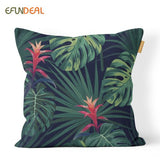 Tropical Leaves Home Decorative Cushion Cover Throw Pillow Case For Sofa Couch Bed Chair Jungle Plants  Floral  45*45cm/60*60cm