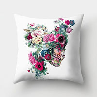 Colorful Skull Cushion Covers Flower Abstract Art Throw Pillow Cover Sofa Decorative Pillow Case Home Decor