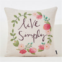 Throw pillow cushion cover flower plant office lumbar pillow sofa cushion pillow case cover for living room decoration