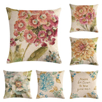 Famous Chinese flowers-2HomerDecor Cushion Cover Throw Pillowcase Pillow Covers 45 * 45cm   Sofa Seat Cushion Decorative