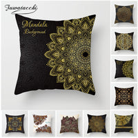 Fuwatacchi Mandala Cushion Covers Bohemian Geometric Pillow Case Stamping Pillow Cover For Sofa Chair Decor Flower Pillowcases