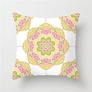 Fuwatacchi Colorful Mandala Cushion Cover Flower Pillow Case Home Decorative Pink Yellow Red Square Pillows Cover For Sofa Seat