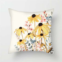 Fuwatacchi Floral Cushion Covers Colorful Flowers Throw Pillow Covers for Home Sofa Bedroom Pink Red Roses Plush Pillowcases
