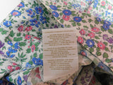 RALPH LAUREN PAIR OF KING PILLOWCASES 100% COTTON BLUE GREEN PINK-COTTAGE STYLE