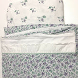 Eddie Bauer Coming Home Purple Floral Twin Bedding Set 2 Euro Pillow Sham Sheets