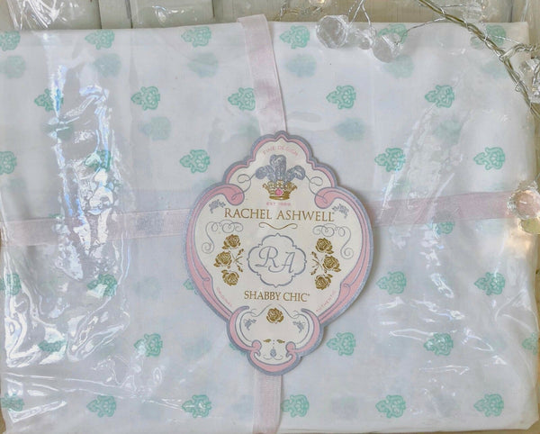 2 Rachel Ashwell Shabby Chic™ Green Blossom 1 Pair Pillowcases Pillowslips New