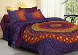 Indian Ethnic Bedspread Bed Sheet Cover Super King Size with 2 Pillowcase Set