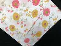 2 Vintage Retro Westpoint Pepperell Pink Yellow Flower Pillowcases 60s 70s
