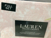 NEW Ralph Lauren Pink Cottage Floral Paisley 4 PC Full OR Queen Size Sheet Set