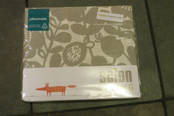 BNWT Scion Kukkia Pair of Pillowcases Ink & Charcoal