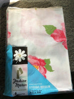 VTG JCPenney Fashion Manor Pillowcases Penn Prest No Iron Muslin NIP Pink Floral