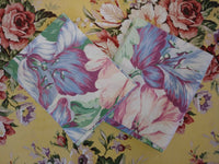 Set of Vintage Pillowcases With Large Floral Design