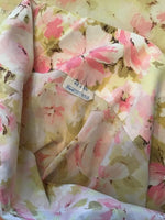 "Vintage Grants Pink Floral Standard Pillow Case No Iron Muslin 20"" x 30"""