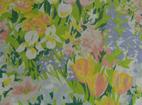 Two Vintage Stevens Utica Chelsea Standard Pillowcases Flower Power Tulips