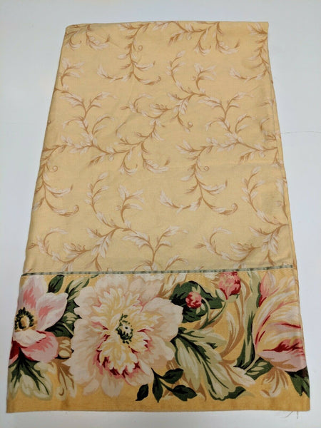1 Croscill Pavilion Pavillion yellow floral pillowcases King Size