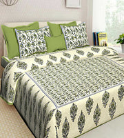 Multi Color Floral Printed 100% Cotton New Bedsheet 2 Pillow Cases Set Bedspread