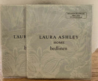 Laura Ashley Maddox Duck Egg Housewife Pillowcases x 2 (1 x Pair) NEW IN PACKS