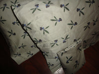 KEECO AMETHYST NEUTRAL ASIAN FLORAL (3) STANDARD PILLOWCASES 20 X 30