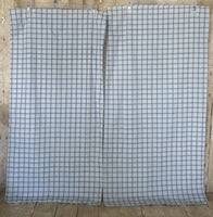 Vintage King Pillowcases Percale Striped Checked Country Thomaston Blue Green