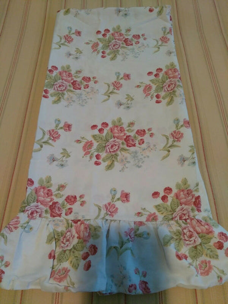 Ralph Lauren EMILY ANNE Floral Ruffled King Pillowcase One Vintage Made in Italy