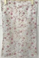 Vintage Pink Floral Pillowcase 18 x 27 inch Retro 1980