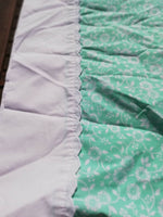 Vintage Retro Funky 1970's Pillow Case Spearmint Green Abstract Floral