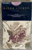 RALPH LAUREN Wilton Rose Floral KING Sham Pillow Sham