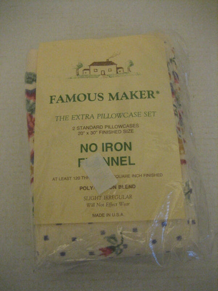 Famous Maker The Extra Pillowcase Set Floral 2 Standard Pillowcases NWIP