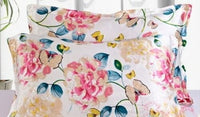 100%SILK-PILLOW CASEx1*Hair+Skincare*Rejuvenation*Butterfly Floral Fantasy*BR