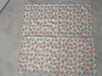 Betsey Johnson King Pillow Cases Set of 2 Pink Floral w/ Skulls
