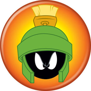 Looney Tunes - Marvin the Martian on Orange Button