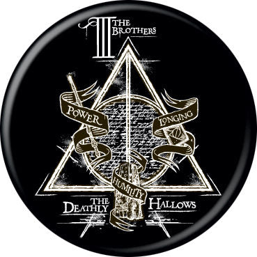 Harry Potter - Deathly Hallows Black Button