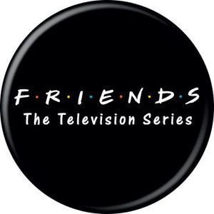 Friends - Logo On Black Button