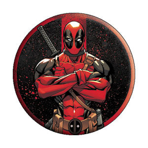 Deadpool - Arms Crossed Button - Disc