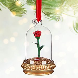 Beauty & the Beast Rose Ornament